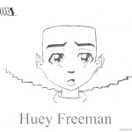 Boondocks coloring pages Huey Simple Drawing