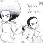 Boondocks coloring pages Huey and Riley Fanart