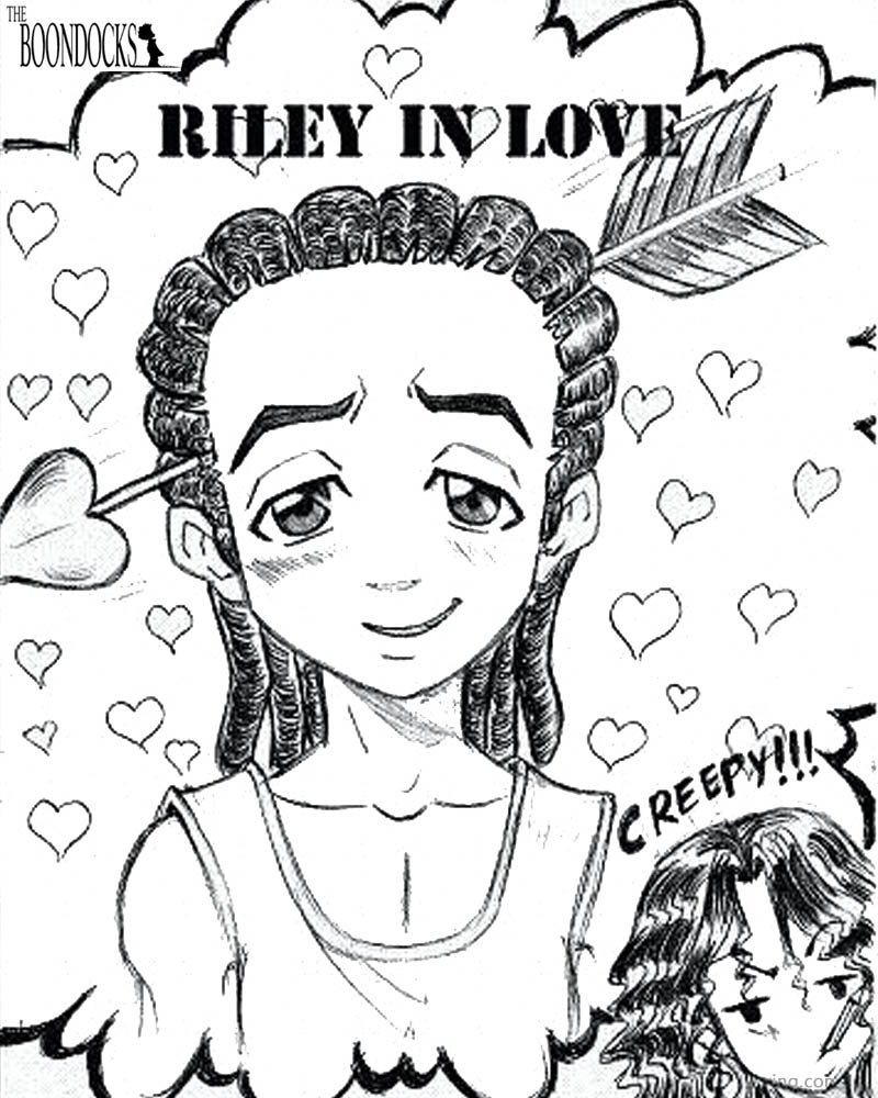 Boondocks coloring pages Lovely Riley printable