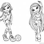 Bratz Coloring Pages Babyz Doll Fianna