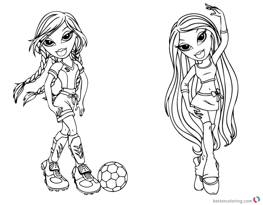 Bratz Coloring Pages Babyz Doll Fianna printable for free