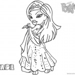Bratz Coloring Pages Babyz Doll Jade
