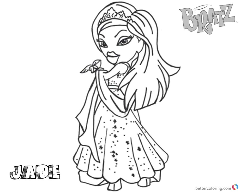 Bratz Coloring Pages Babyz Doll Jade printable for free
