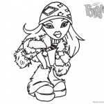 Bratz Coloring Pages Babyz Doll Wear Winter Clothes