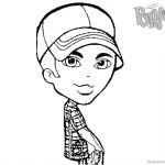 Bratz Coloring Pages Boyz Doll with Hat