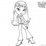 Bratz Coloring Pages Cute Babyz Doll Clipart