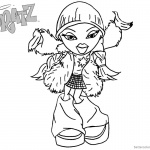 Bratz Coloring Pages Dancing Babyz Girl