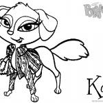 Bratz Coloring Pages Kali Petz Doll
