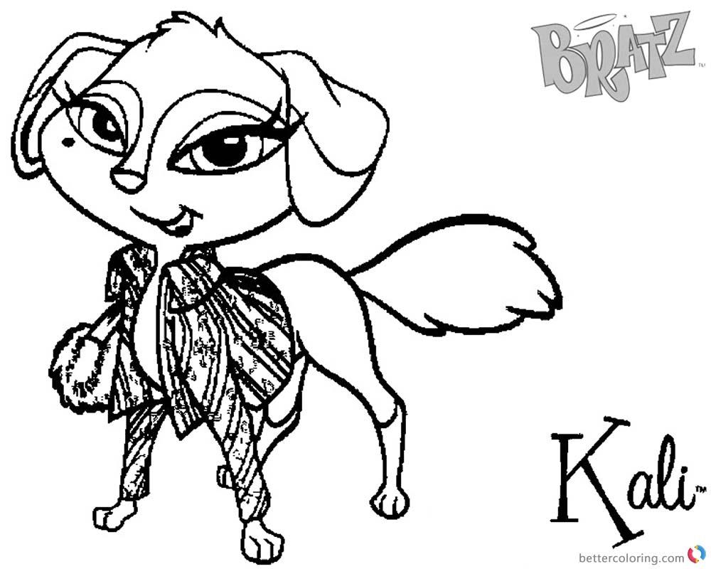 Bratz Coloring Pages Kali Petz Doll printable for free