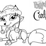 Bratz Coloring Pages Petz Doll Carly