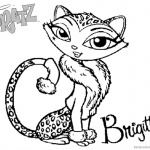 Bratz Coloring Pages Petz Doll Cat