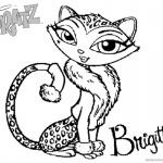 Bratz Coloring Pages Petz Doll Cat