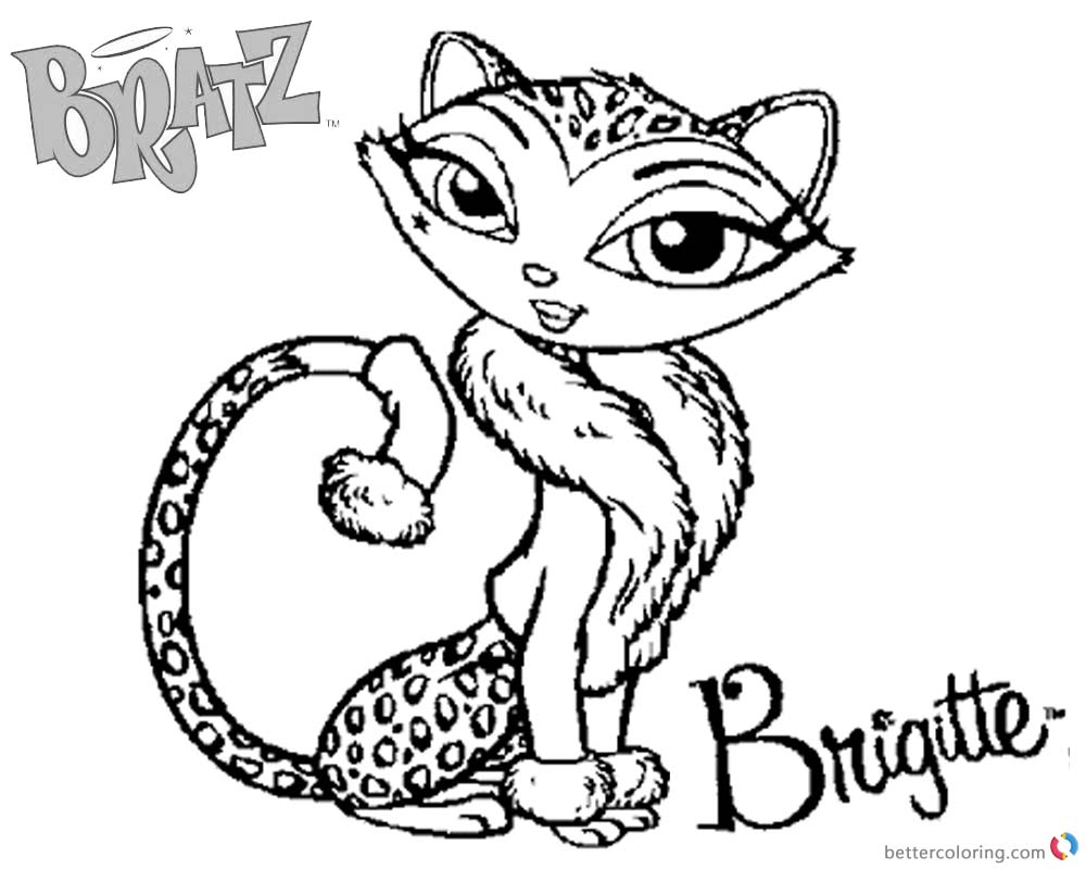 Bratz Coloring Pages Petz Doll Cat printable for free