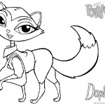 Bratz Coloring Pages Petz Doll Daphne