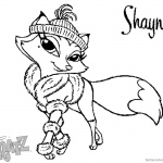 Bratz Coloring Pages Petz Doll Shayna