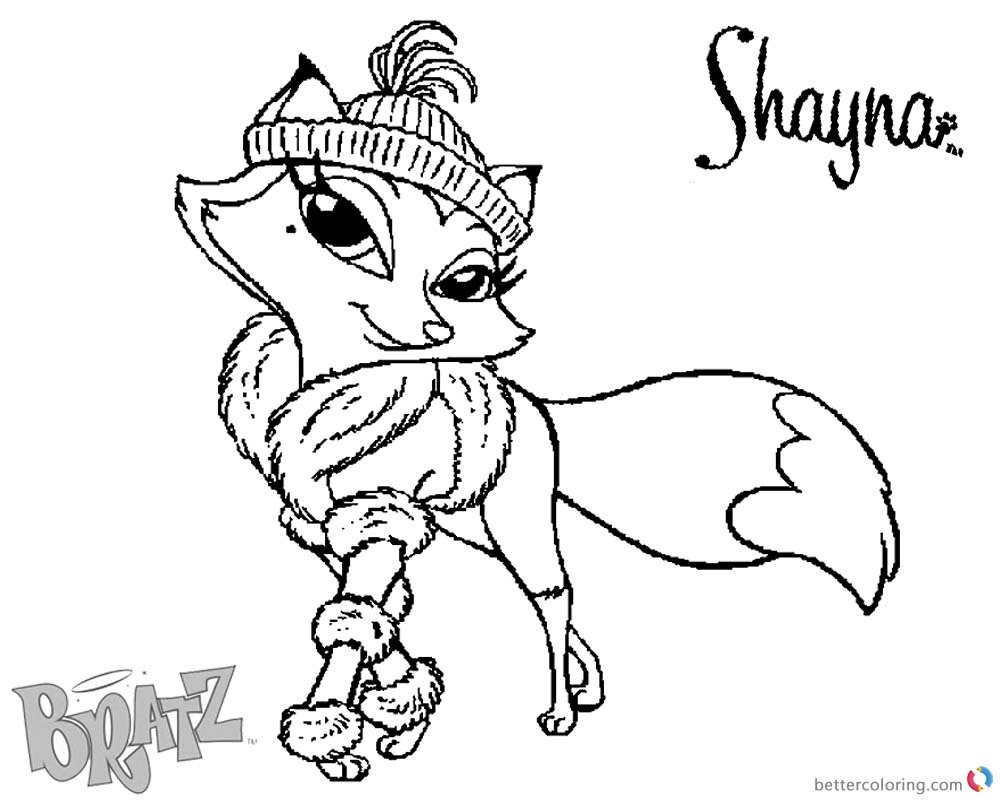 Bratz Coloring Pages Petz Doll Shayna printable for free