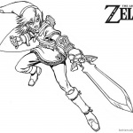 Brave Link from Zelda Coloring Pages