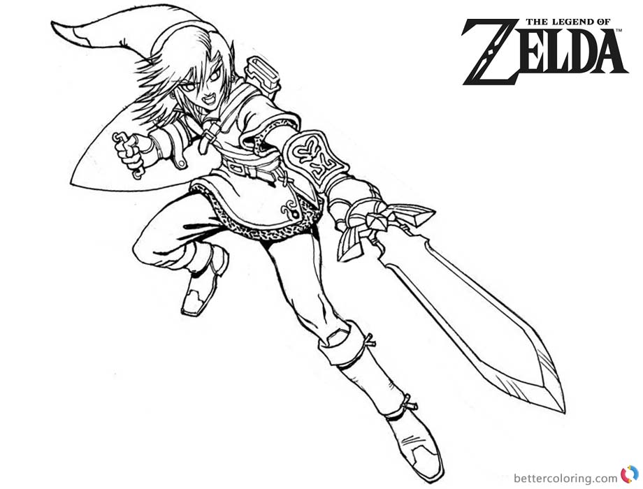 Brave Link from Zelda Coloring