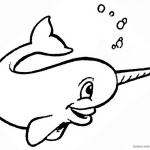 Cartoon Narwhal Coloring Pages Bubbling