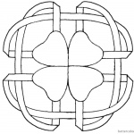 Celtic Clover Knot Coloring Pages