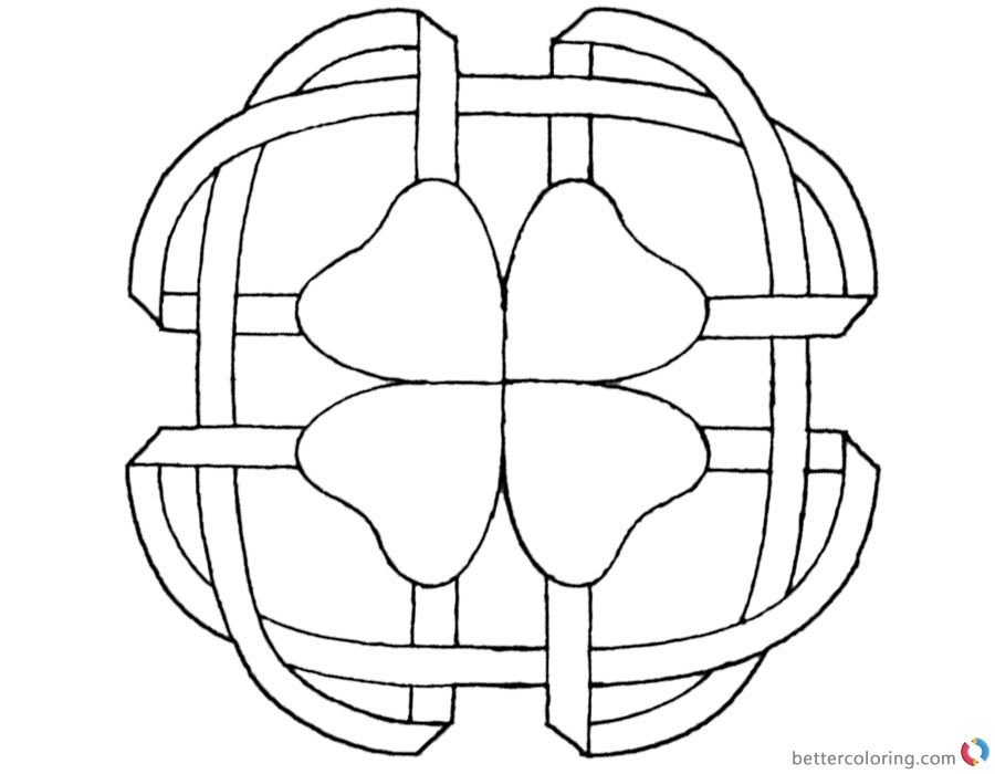 Celtic Clover Knot Coloring Pages printable for free