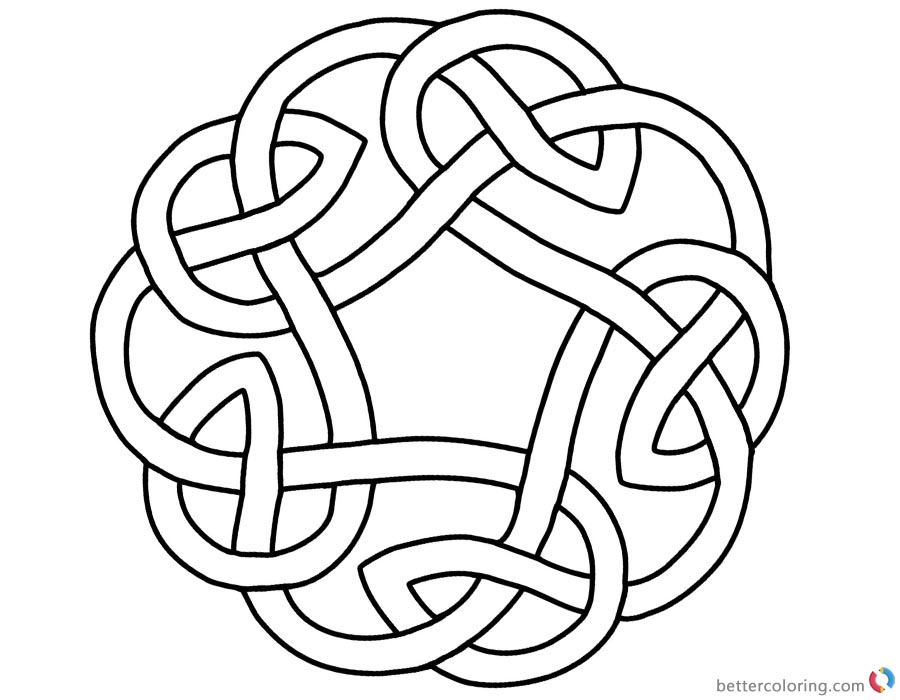 Celtic Knot Circle Coloring Pages