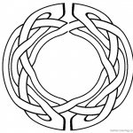Celtic Knot Coloring Pages Circle Pattern Clipart