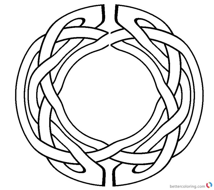 Celtic Knot Coloring Pages Circle Pattern Clipart printable for free