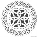 Celtic Knot Coloring Pages Circle Ribbons