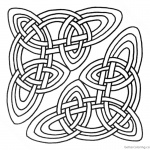 Celtic Knot Coloring Pages Clipart for Adults
