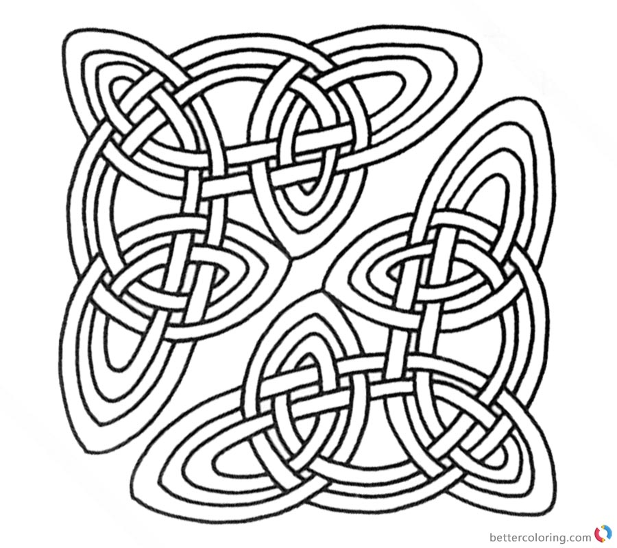 Celtic Knot Coloring Pages Clipart for Adults printable for free