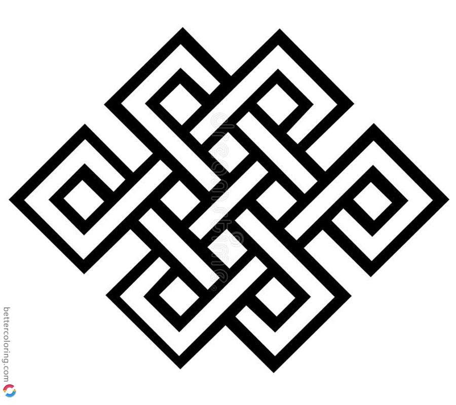 Celtic Knot Coloring Pages Colouring Sheet printable for free