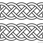 Celtic Knot Coloring Pages Doddles Black and White