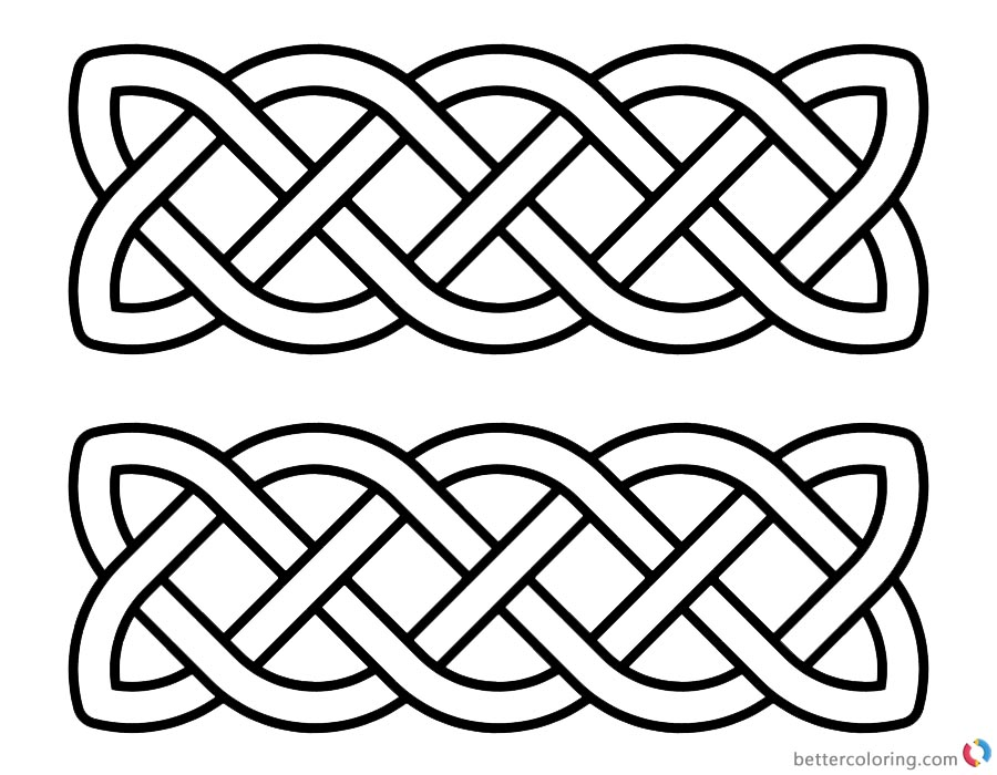 Celtic Knot Coloring Pages Doddles Black and White printable for free