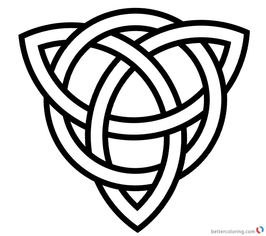 Celtic Knot Coloring Pages Fergus Scottish Festival and Highland Games printable for free