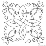 Celtic Knot Coloring Pages Flowers and Leaves