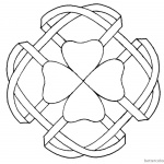 Celtic Knot Coloring Pages Four Leaf Clover