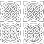 Celtic Knot Coloring Pages Four Square Pattern