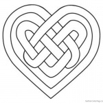 Celtic Knot Coloring Pages Heart Love