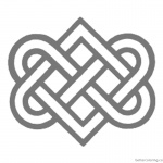 Celtic Knot Coloring Pages Love Ribbons