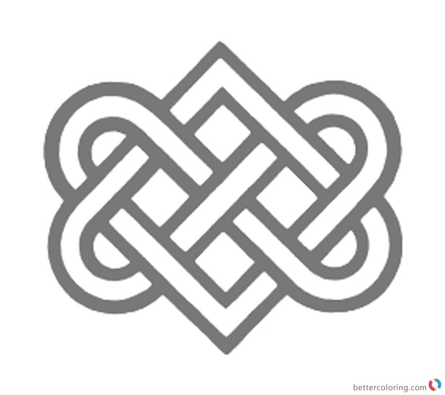 Celtic Knot Coloring Pages Love Ribbons printable for free