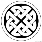 Celtic Knot Coloring Pages Ornament Template