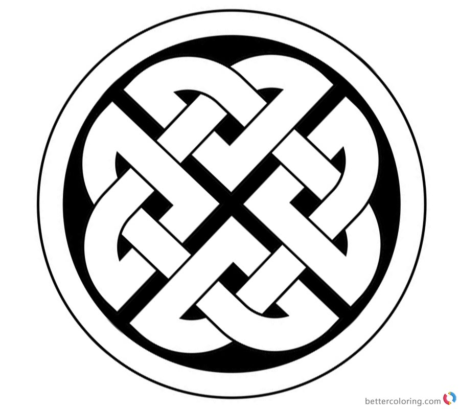 Celtic Knot Coloring Pages Ornament Template Free