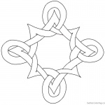 Celtic Knot Coloring Pages Pattern Black and White