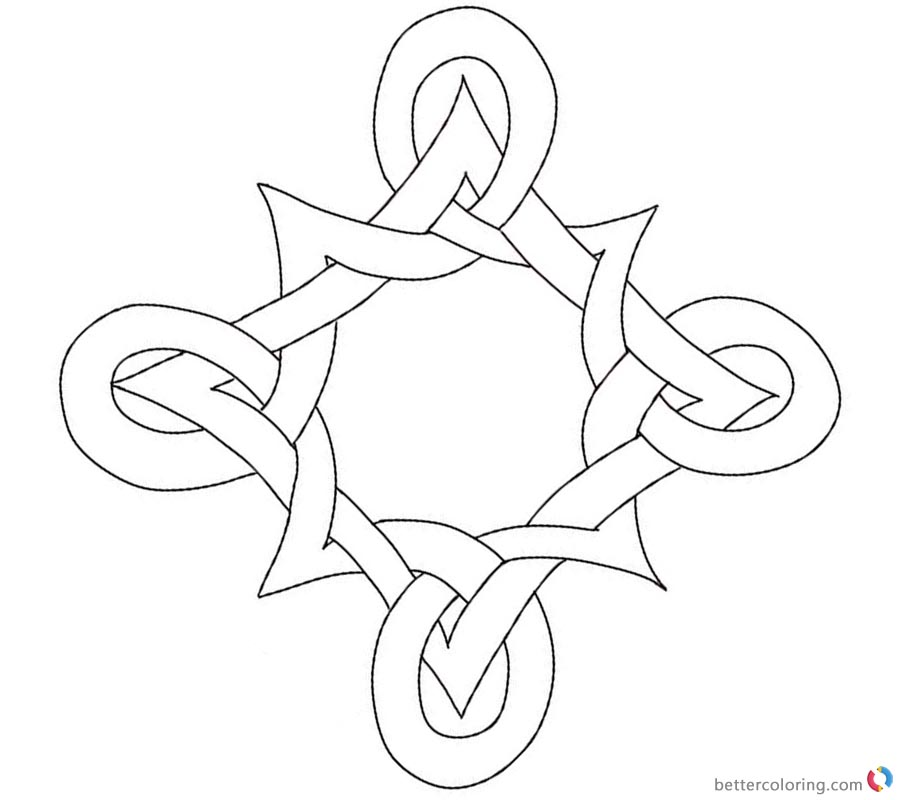 Celtic Knot Coloring Pages Pattern Black And White Free Printable