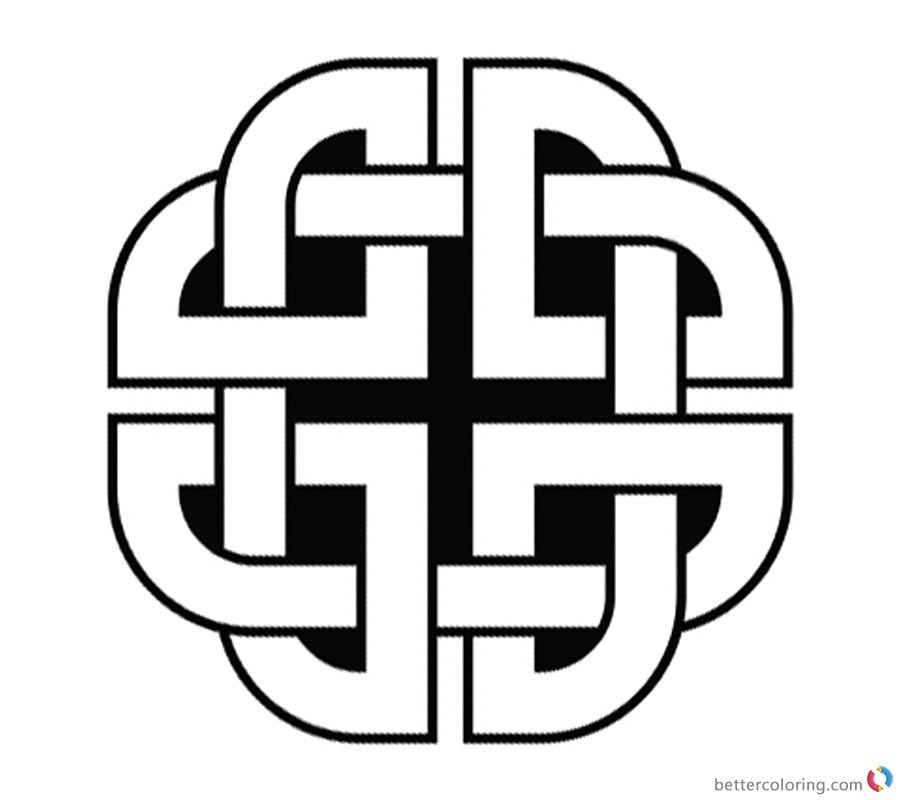 Celtic Knot Coloring Pages Quaternary printable for free