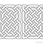 Celtic Knot Coloring Pages Rectangle