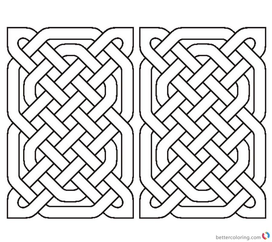 Celtic Knot Coloring Pages Rectangle printable for free