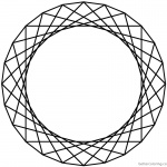 Celtic Knot Coloring Pages Rotated Ornament