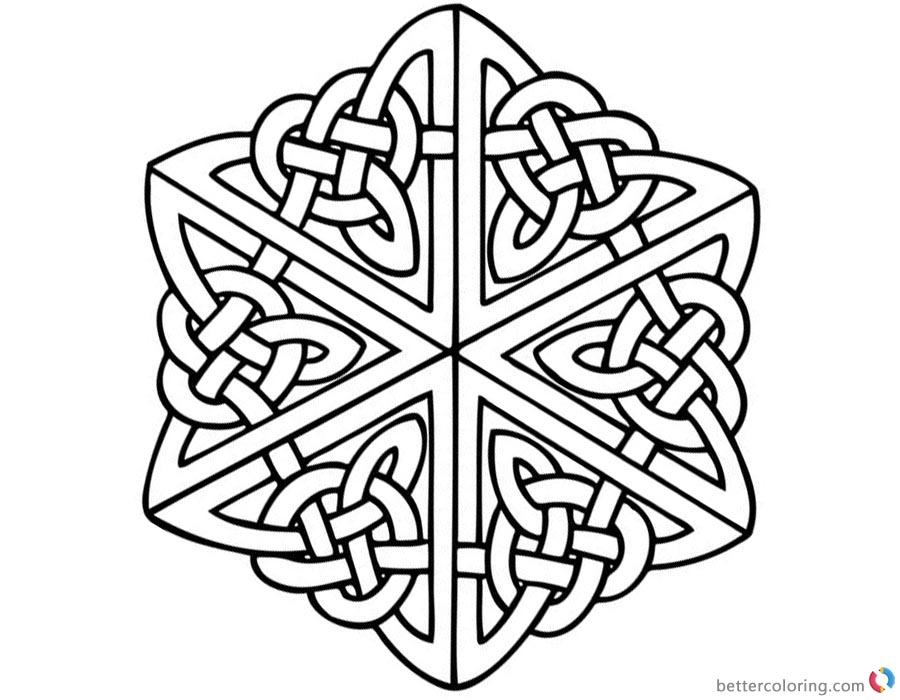 Celtic Knot Coloring Pages for Adults printable for free